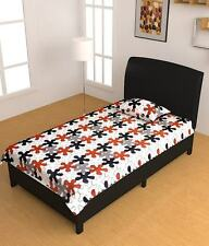 Homefabs 100% Cotton Single Bed-Sheet with 1 Pillow Cover (Single132)