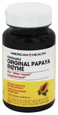 American Health Original PAPAYA ENZYME - 100 Chewable Tablets DIGESTIVE HEALTH