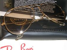 VINTAGE B&L RAY BAN L2928 24K GOLD ELECTROPLATED BROWN CHANGEABLES SUNGLASSES