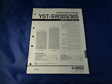 Yamaha YST-SW205 YST-SW305 Subwoofer System Service Manual