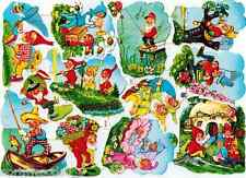 GNOMES FAIRY EAS SCRAP PAPER VINTAGE OLD GERMAN NOS GARDEN LIMITED COLLECT
