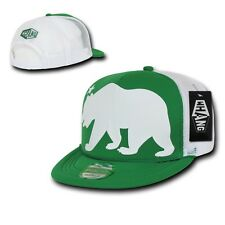Kelly Green California Republic Cali Giant Bear Trucker Mesh Cap Caps Hat Hats
