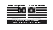 Set of 2 USA Flags Vinyl Decals - American Flag pride and support. United States
