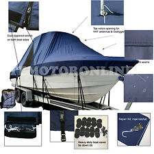 Boston Whaler 250 Outrage CC T-Top Hard-Top Boat Cover Navy