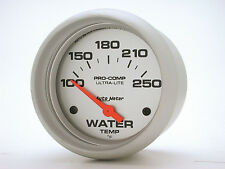 Auto Meter Ultra-Lite Electric 100 - 250 Deg F Water Temperature Gauge 2 5/8 in.