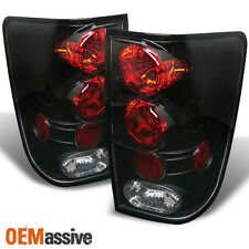 Fits 04-15 Titan Pickup Truck Black Tail Brake Lights Lamps Pair Left+Right Set
