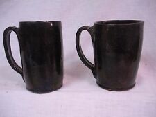 Vintage James Towne Jamestown Collony Colony Virginia VA Art Pottery 2 Mugs 1933