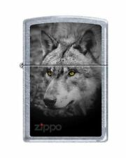 Zippo 5179 black and white wolf street chrome finish Lighter