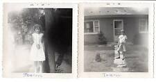 2 1963 snapshot girls teens Jeanne Joanne cameras striking model photographers
