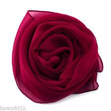 Women Long Chiffon Like Scarf Scarves Beige Pink Brown Purple Blue Grey Hijab UK