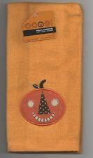 Halloween Pumpkin Embroidered Bath Fingertip Towel Small Hand Finger Tip NEW