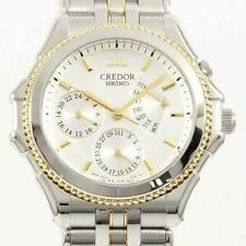 Authentic SEIKO 4S77-0A30 GCBG996 Credor Pacifique Gold & Steel SSx  #260-000...