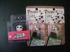 New 1 Set of 3 Cute Panda Dust Proof phone plug Cover Charm (3.5mm)