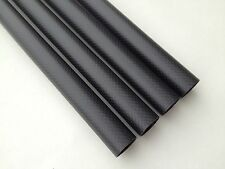Matte 10mm OD x 8mm ID x 500mm 3K Roll Carbon Fiber Tube/Arm/Rod Quadcopter