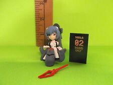 "Evangelion  Rei Ayanami 1.5.""in Figure Sitting in Space Chair in White Plug Suit"