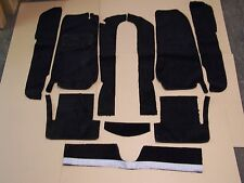 FIAT 124  SPIDER 66-82 BLACK CUT PILE CARPET KIT WITH 20 OUNCE PADDING