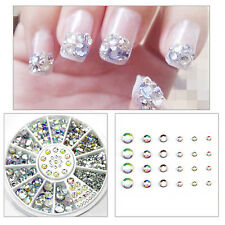6 Size 300pc Nail Art 3D Glitter Rhinestone Decoration AB DIAMANTE CRYSTAL Gem