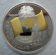 2005 CANADA 40th ANNIVERSARY OF CANADIAN FLAG PROOF SILVER DOLLAR