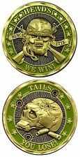 US Marines Army Navy Police Air Force Heads We Win Military New Challenge Coin