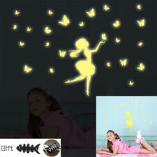Butterfly Girl Baby Wall Sticker Home Room Decor Glow In The Dark Decal +GIFT