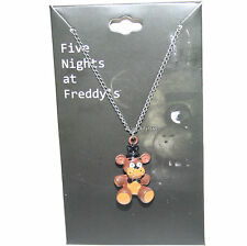 NEW Five Nights at Freddy's 3-D Freddy Fazbear Bear Metal charm pendant necklace