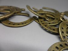 20 tibetan Bronze Horseshoe charm,Pendant~scrapbooking,card & jewellery making