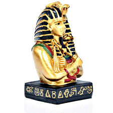 Egyptian Statue of the Pharaoh Tutankhamen - Black & Gold Figurine - 10.5cm Tall
