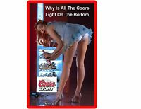 Funny Sexy Coors Light Beer Girl Bending Refrigerator / Tool Box Magnet Man Cave