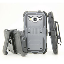Shockproof Rugged Armor Hybrid Hard Protective Case Cover Kickstand Clip Holster