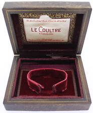 Original LeCoultre estuche/box para cronógrafos & Memovox-de oscuro de maderas nobles
