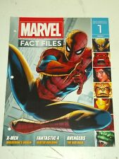 MARVEL FACT FILES #1 UK MAGAZINE EAGLEMOSS X-MEN FANTASTIC 4 AVENGERS 2013