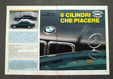 AD80 - Clipping-Ritaglio -1987- BMW 730 i MERCEDES 300 E