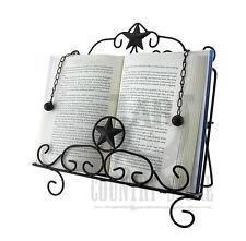 Rustic Western Star Book Easel Cookbook Holder -  Stand - Metal, Dark Brown