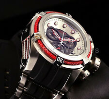 Invicta Reserve 52mm Bolt Zeus Swiss Chronograph Red Cable Blk Dial Strap Watch
