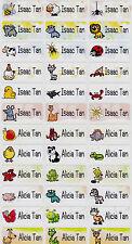 72 ANIMALS Custom Waterproof Name Labels-School,Daycare (Buy 5 get 1 FREE)
