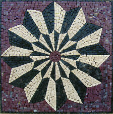 "20"" Handmade Decorative Geometric wall floor Marble Mosaic Art Stone Tile Decor."