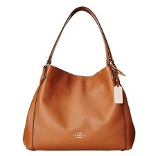 NWT Coach 36464 Edie Shoulder Bag 31 In Refined Pebble Leather Saddle