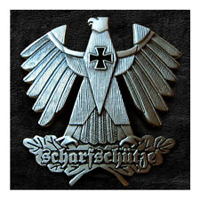 "GERMAN SHARPSHOOTER SNIPER EAGLE IRON CROSS BADGE SCHARFSCHUTZE INSIGNIA 2""x2"""