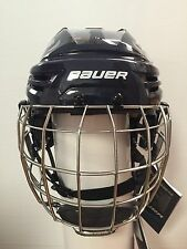New - Bauer IMS 9.0 Hockey Helmet Combo - Color Navy - Size Small