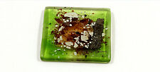 FUSED GLASS ART Emerald Green Set of 4 Glass Coasters Artemis Collection 4H90