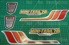 1978 78' honda  CT-70 CT70 6pc vintage Frame decals, stickers, graphics