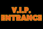 VIP Entrance sign Neon Lights Style A4 size removable sticker - V.I.P. Hollywood