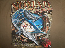 Nomad Sportfishing Fish Lures Green Graphic Print T Shirt - M