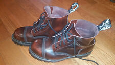 GRIPFAST 6 eye Steel Toe Boots MADE IN ENGLAND US size Mens 11,UK10 burgundy rub