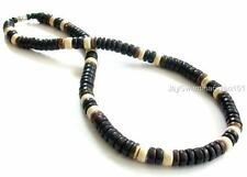 8mm Black Coco Wood Beads Surfer Choker Wooden Necklace Men's Teen's 18""