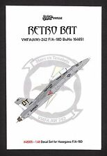 jbr48005/ JBr Decals - F/A-18D - Retro Bat - VMFA (AW)-242 - 1/48 - TOPP DECALS