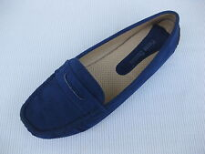 Pierre Dumas Womens Shoes NEW $45 Driving Royal Blue Perf Loafer Driver 7.5 M