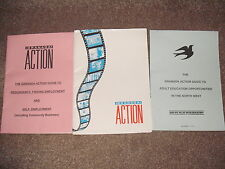 2 Vintage GRANADA ACTION Guide TV PB 1991 Adult Education Employment North West