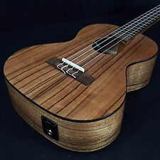 New KALA KA-PWTE Tenor Pacific Walnut Acoustic Electric Ukulele built in TUNER