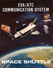 Space Shuttle Mission Communications Concept Giclee Art Print NASA Space 11 x 14